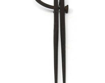 Antique Blacksmith Forged Divider PS & W Co, Vintage Engineering Tools, Industrial Decor, Forged Steel Wing Divider Mechanical Tool