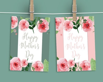 "Mother's Day Signs. Floral Theme. Mother's Day Brunch Sign. 8x10"" in two colors. Set 1. *INSTANT DOWNLOAD*"