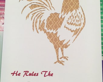 Rules the roost paper cut unframed
