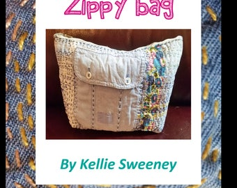 Zippy Bag hand sewing pattern (instant download)