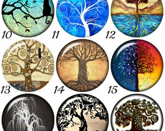 Snap charms, tree of life snaps for snaps jewelry. 20mm snaps & high domed cabochon will fit Gingersnaps jewelry. Fits snap on jewelry charm