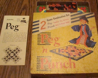 Vintage 2 Games in One Peg & Punch (COMPLETE)