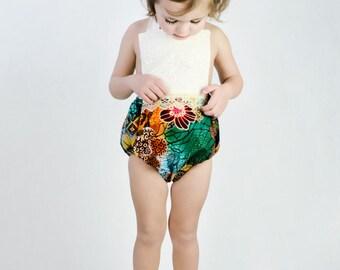 Designer Boho Toddler Girls  Romper, Halter Romper, Baby Romper, Sunsuit, Playsuit