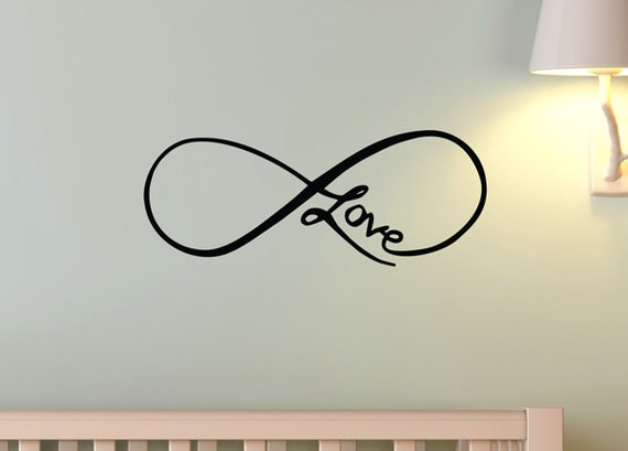 Infinity Love Symbol Tattoo Style Art Wall Decal