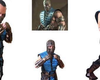 Sub Zero Mortal Kombat X costume/Sub Zero cosplay costume/ Sub Zero mask/ Sub Zero shin guards/wristbands/accessories/cosplay costume