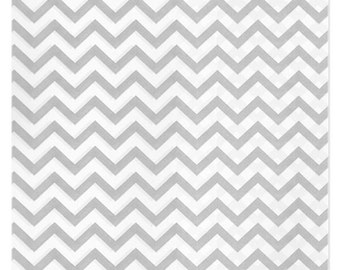 100 Silver Gray Chevron Paper Bags, 8.5 x 11 inches - Flat Merchandise Bags