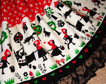 Little Red Riding Hood Fairy Tale Sweet Lolita Skirt - ANY SIZE