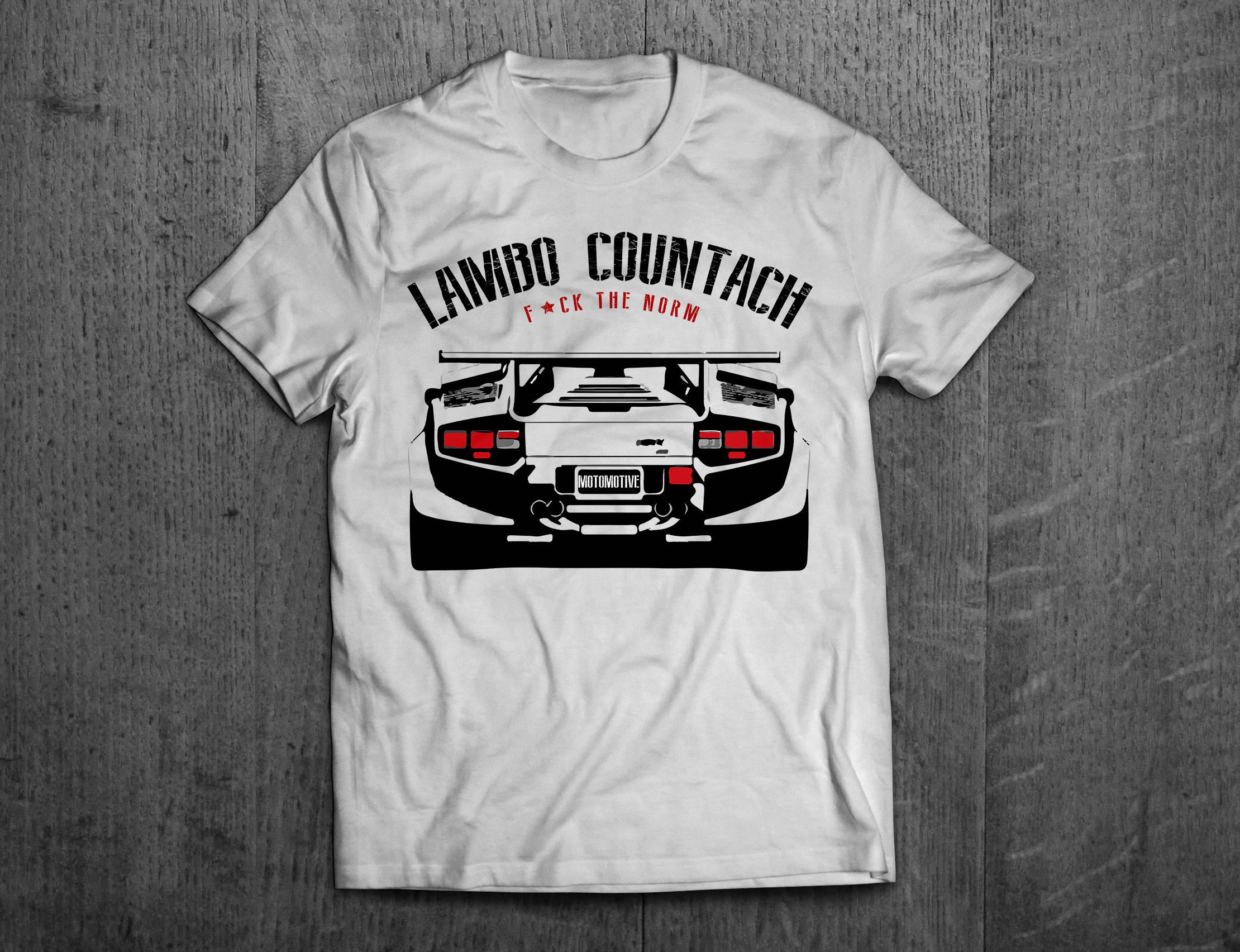 lamborghini shirts lamborghini countach shirts lambo t. Black Bedroom Furniture Sets. Home Design Ideas
