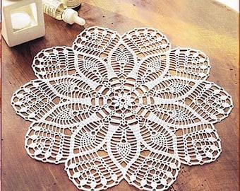Crochet doily, handmade table setting home decor item