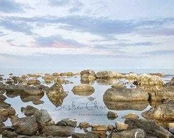 digital backdrop sea seen mermaid rock maternity