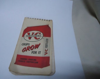 Vintage V-C Fertilizers Note or Sketch Pad, collectable
