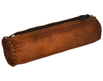 Gusti leather ' timmy ' genuine leather pencil case