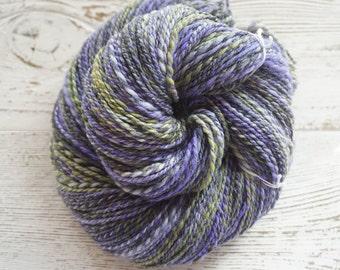 Handspun Yarn, Hand Spun Yarn, Merino, Sport, Metallic, Thread
