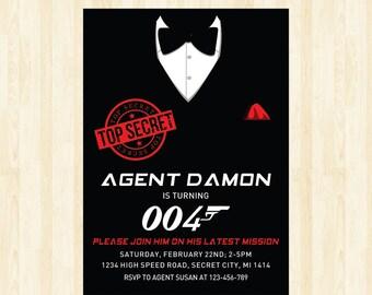 Spy invitation secret agent invitation secret agent party top secret invitation detective invitation spy party detective party printable 205