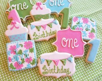 1st birthday cupcake cookies