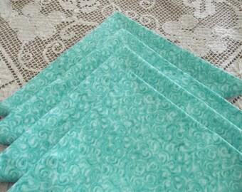 Cloth Napkins, Turquoise Napkins, Set of 4 turquoise Napkins, Handmade Napkins, Fabric Napkins, Cloth Napkins, Dinner Napkins