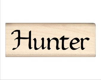 Hunter - Name Rubber Stamp for Kids