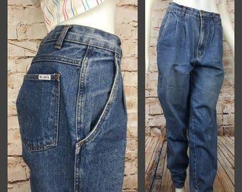 Bill Blass Jeans - 80's Mom Jeans - High waisted mom jeans - Pleated - women's vintage jeans - vintage mom jeans - high waist - Bill Blass