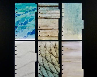 """Double sided laminated dividers  -  Personal size - """"Ocean"""""""