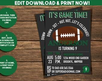 Football Invitation| Football Birthday Invitatio | Sports Birthday Invitation | Birthday Invitation | Digital Invitation