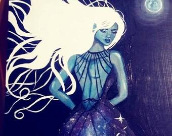 Zaina-Acrylic on wood panel