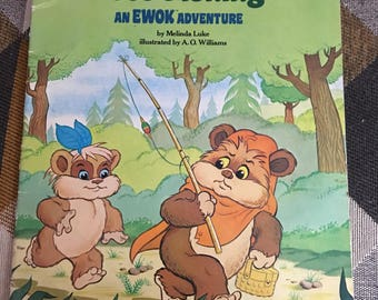 Vintage 1986 Wicket Goes Fishing am EWOK Adventure Book