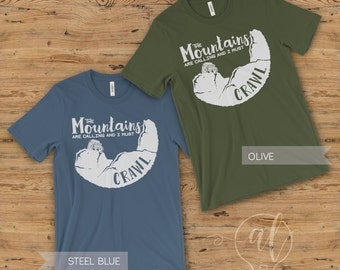 Mountains are Calling Shirt - Mountains shirt - Jeep Shirt - Adventure shirt - Jeep Crawling shirt - Rock Crawling Shirt -