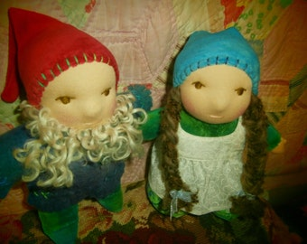 Gnome Waldorf Doll,  Custom Made in Your Choice of Details