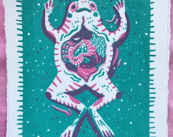 Angel Frog - Screenprint