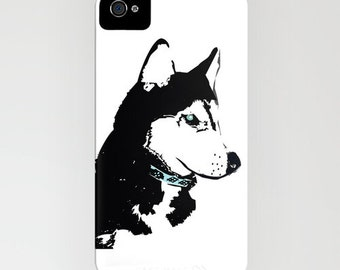 Siberian Husky Dog on  Phone Case - Samsung Galaxy S7, iPhone 6S, iPhone 6 Plus, Gifts for Pet Lovers,  Husky Gifts , iPhone 8