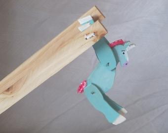 Folk Wood Acrobat Unicorn
