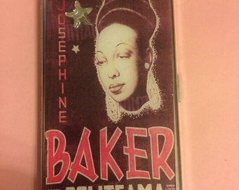 Josephine Baker Politeama Mirror Tissue Cigarette Case Business Credit Card Holder