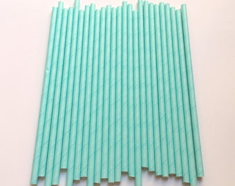 SOLID LIGHT BLUE Paper Straws/Party Straws/Party Decor/Wedding Straws/Gender Reveal/Drinking Straws/1st Birthday Decor/Baby Shower Decor