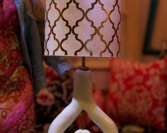 Barbie Fashion Royalty Poppy Parker Doll Sized Retro Modern Lamp with working light OOAK
