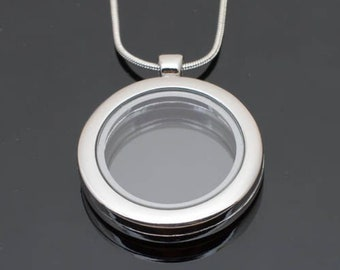 Floating Charm Locket (beautiful chain included for free)