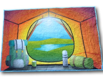 Camping Baby Quilt, Camping Nursery, Camping Nursery Theme, Camping Baby Blanket, Camping Blanket, Camping Quilt,  Camping Nursery Ideas