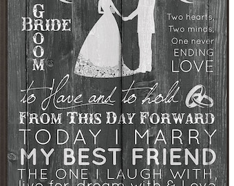 Mr. and Mrs. Wedding plaque