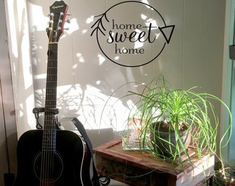 """Wall decal """"home sweet home"""" with arrow, home decor, gift ideas, wall decor, vinyl decal INDOOR"""