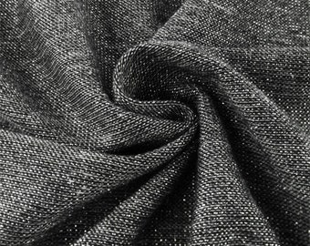 Dark Gray Sparkle Knit Jersey, Fabric By The Yard