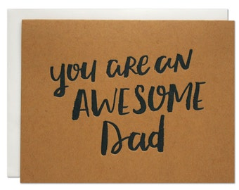 Awesome Dad Letterpress Card