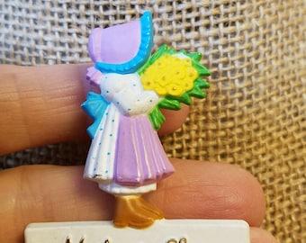 Vintage Holly Hobbie Pin, Holly Hobbie