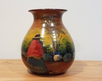 Hand painted vase by Nina