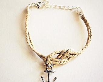 Anchor Knot Cord Bracelet
