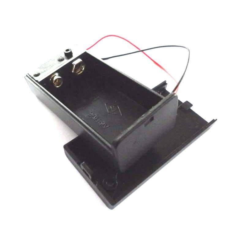 9V PP3 MN1604 9 Volt Batterie-Box mit Deckel und Schalter 9V