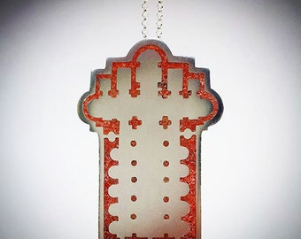 Sant'Agostino Architectural Floor Plan Sterling Silver Pendant