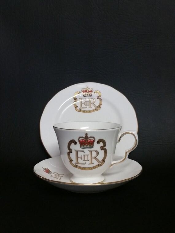 Vintage Queen Anne Fine China Tea Cup, Saucer & Desert Plate
