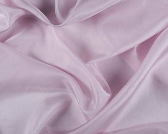 "45"" Wide 100% Silk Crepe de Chine Light Orchid By the Yard (1200M113)"
