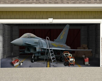Marvelous Germany Typhoon S 30+45 Jet Outdoor Decoration Military Aircraft Army  Independence Day Garage Door