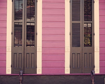 new orleans photograph french quarter cottage shutters new orleans art purple art purple decor fine art photography