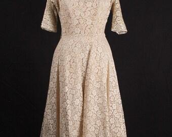 Dress,Ecru Lace, Vintage 50's/60's